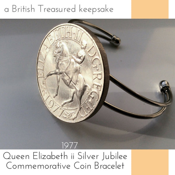1977 queen elizabeth ll silver jubilee commemorative british coin bracelet limited edition