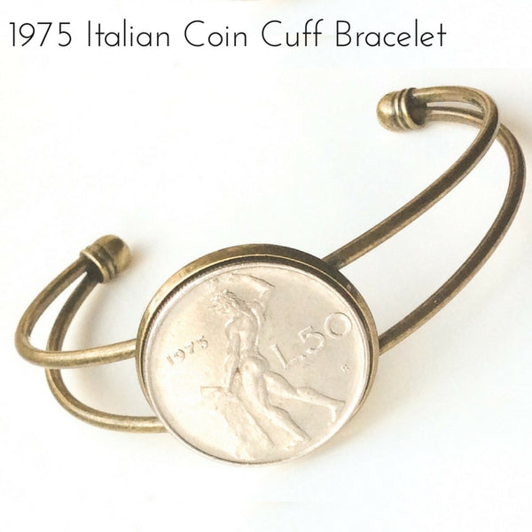 1975 italian fifty coin bracelet