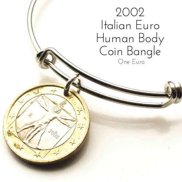 2002 italian one euro coin bangle