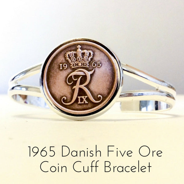 1965 danish five ore coin bracelet