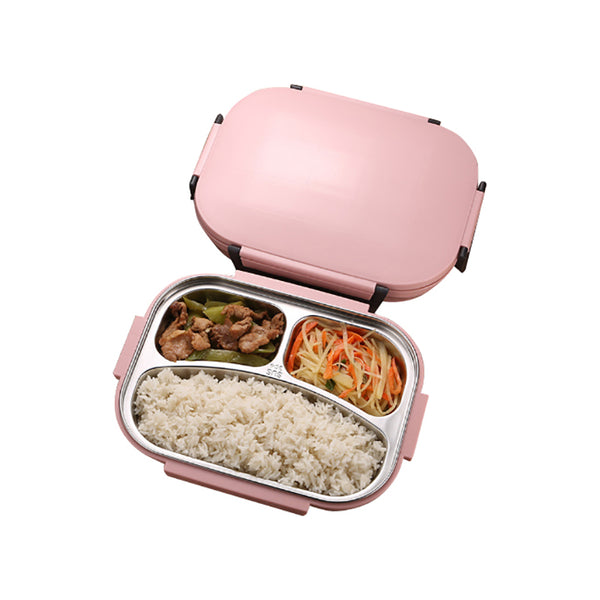 304 Stainless Steel Japanese Pink Bento Lunch Box Bag Set Leakproof Japan Bento Box Food Container Thermal Lunchbox
