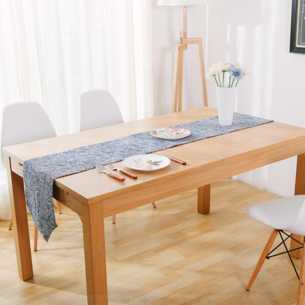 Elegant Japanese Zakka Spray Cotton linen Table Runner Japan Dining Room Linen Home Decor Accessories