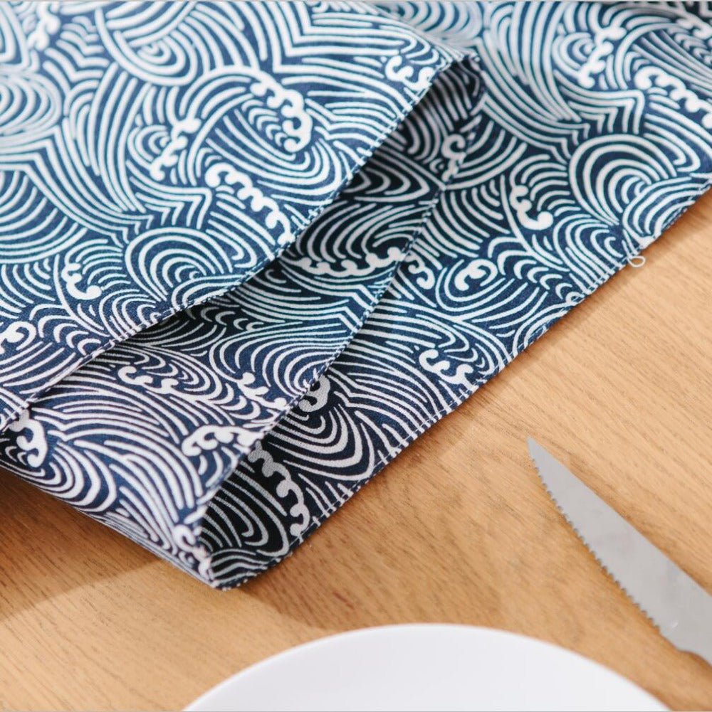 Japanese Zakka Spray Cotton linen Table Runner
