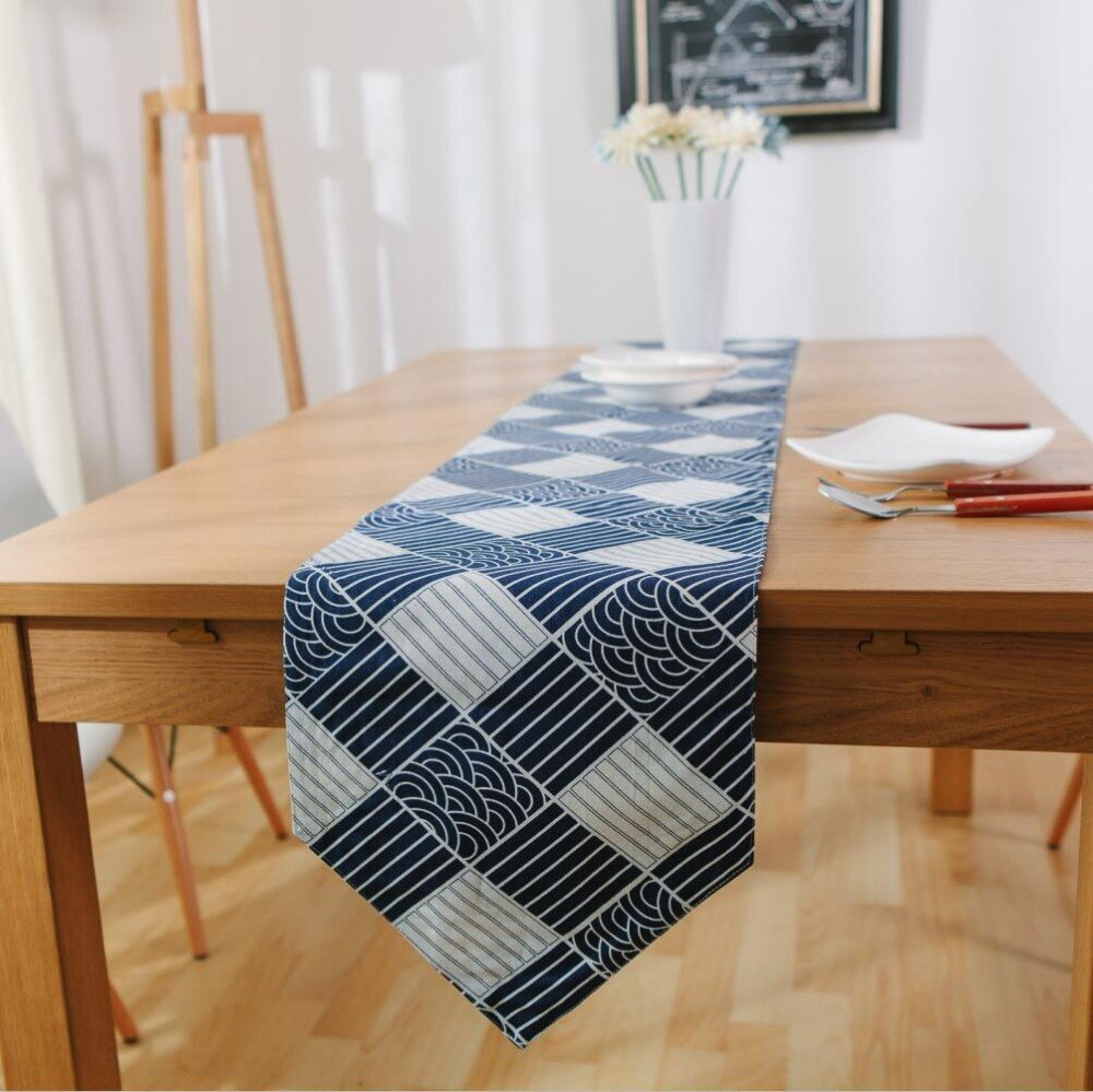 Japanese Zakka Spray Cotton linen Table Runner Japan Dining Room Linen Home Decor Accessories