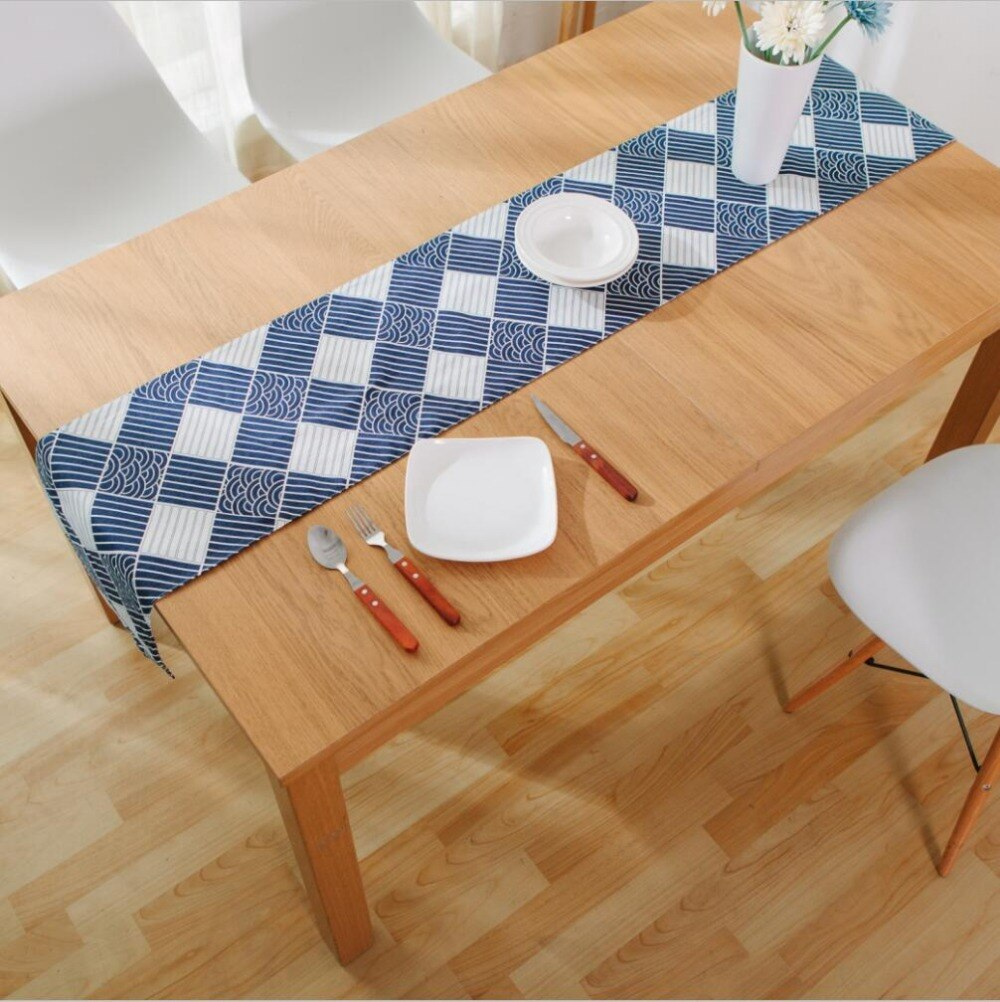 Trending Japanese Zakka Spray Cotton linen Table Runner Japan Dining Room Linen Home Decor Accessories