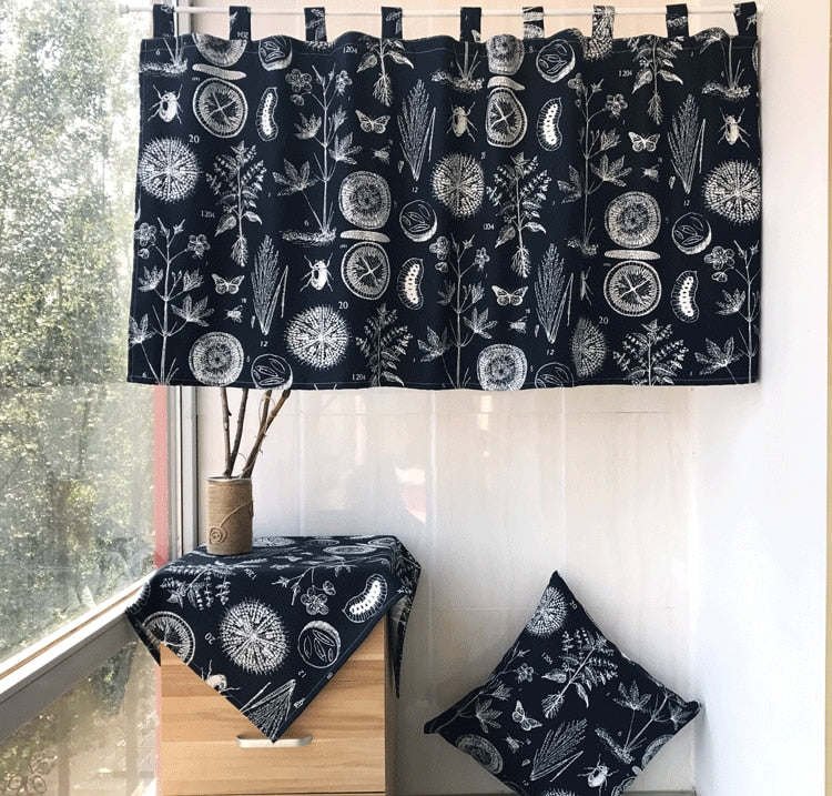 Japanese Cotton Half Shade Curtain
