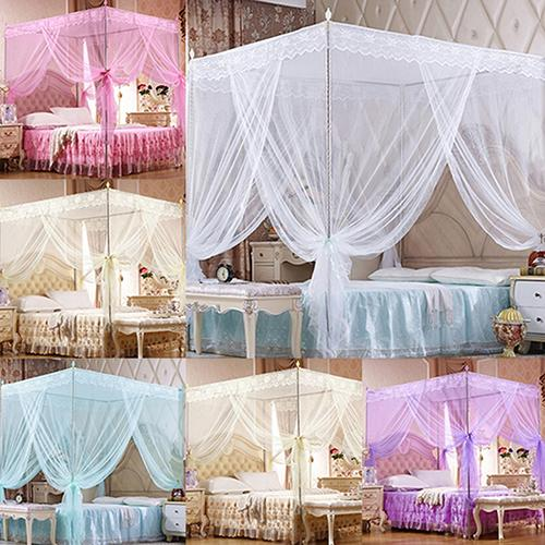 Romantic Princess Lace Canopy Mosquito Net No Frame for Twin Full Queen King Bed Mosquito Bedroom Furniture Accessories