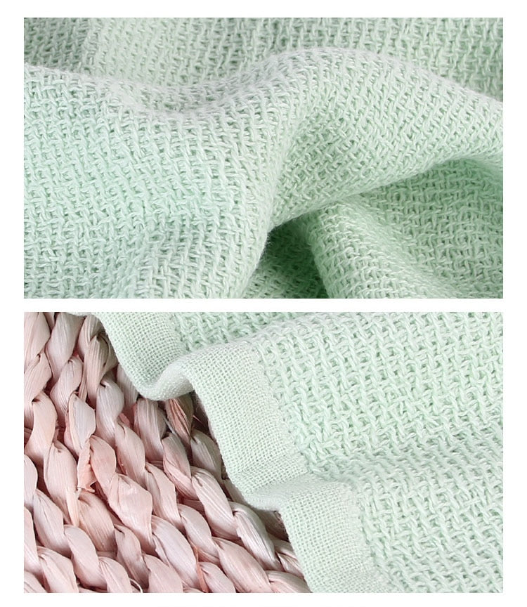Trending Japanese 34x74cm Natural Light Green Soft Cotton Face Towel Honeycomb Solid Color Bath Towels Japan Bathroom Linen Grey White Purple Green Towels
