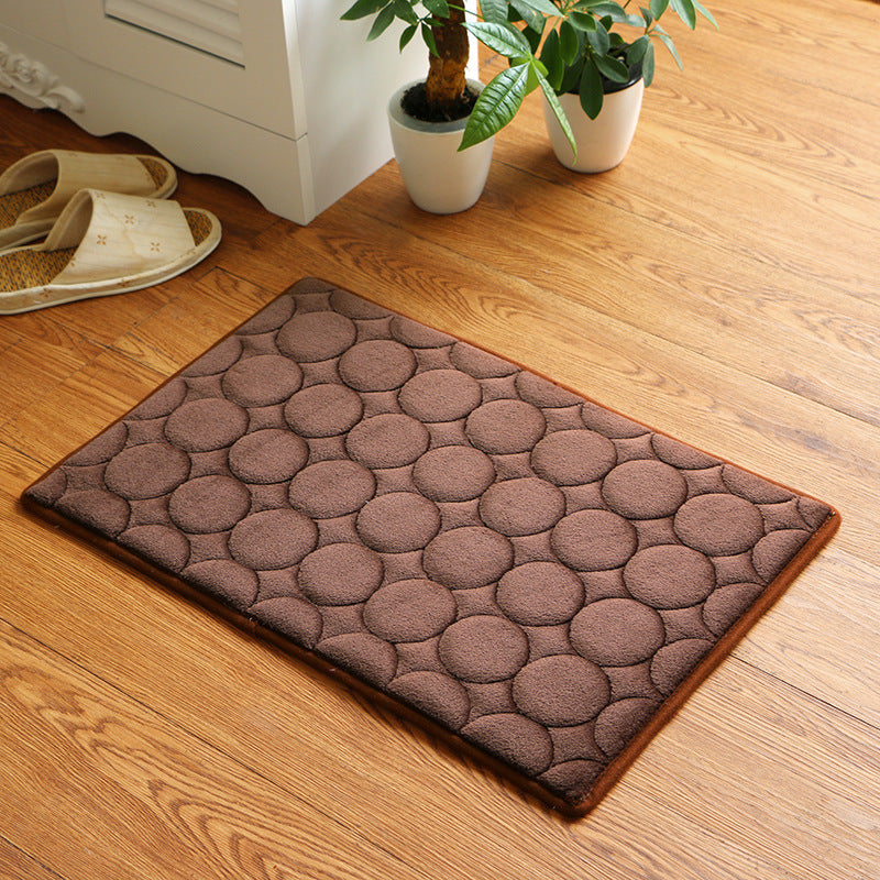 Japanese Coffee Color Memory Foam Bath Mats Coral Anti-slip Bathroom Carpet Water Absorbing Shower Room Door Mats Foot Pad Washable Bathroom Bedside Rug Japan Home Decor Accessories