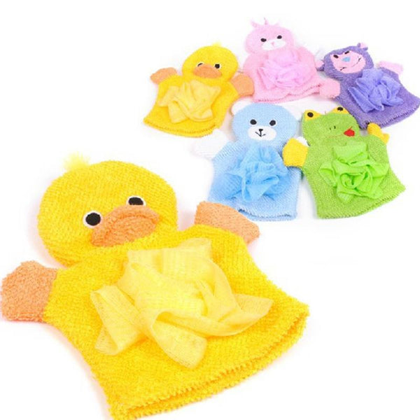 1 Piece Cute Children Baby Shower Bathing Hand Bath Towel 5 Colors Cartoon Animals Style Shower Wash Cloth Towels Bath Accessories