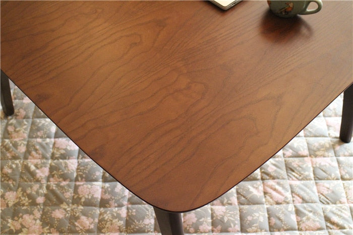 Japanese Oak Wood Kotatsu Table