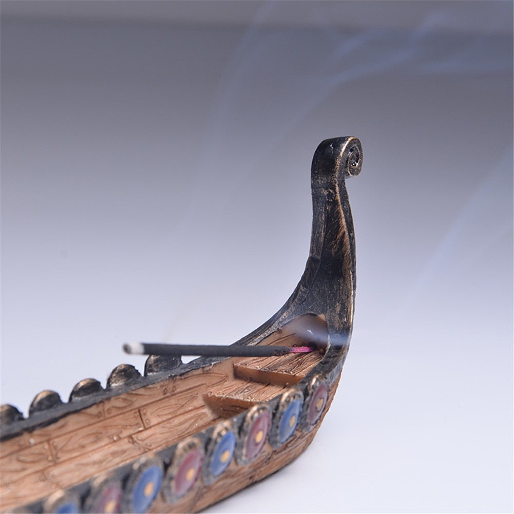 Chinese Dragon Boat Incense Holder