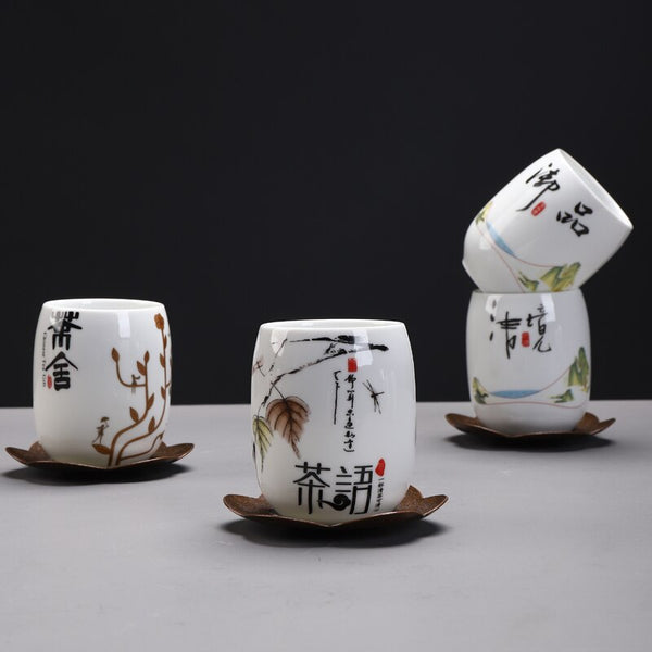 Japanese Ceramic Sake Cup teacup Porcelain tea cup household chinese kung fu cup 175ml