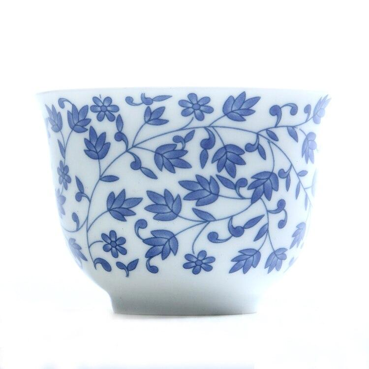Trending Japanese blue and white ceramic Sake teacup Porcelain tea cup Japan Household Capacity 150ml