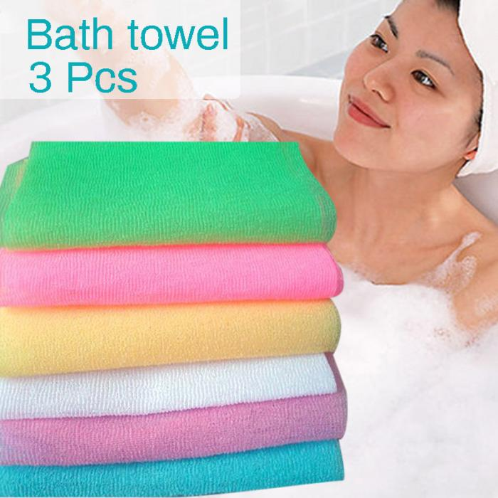 Trend Nylon Wash Cloth Body Scrub Bath Towel Beauty Body Skin Exfoliating Shower Bathroom Washing Bath Accessories Details
