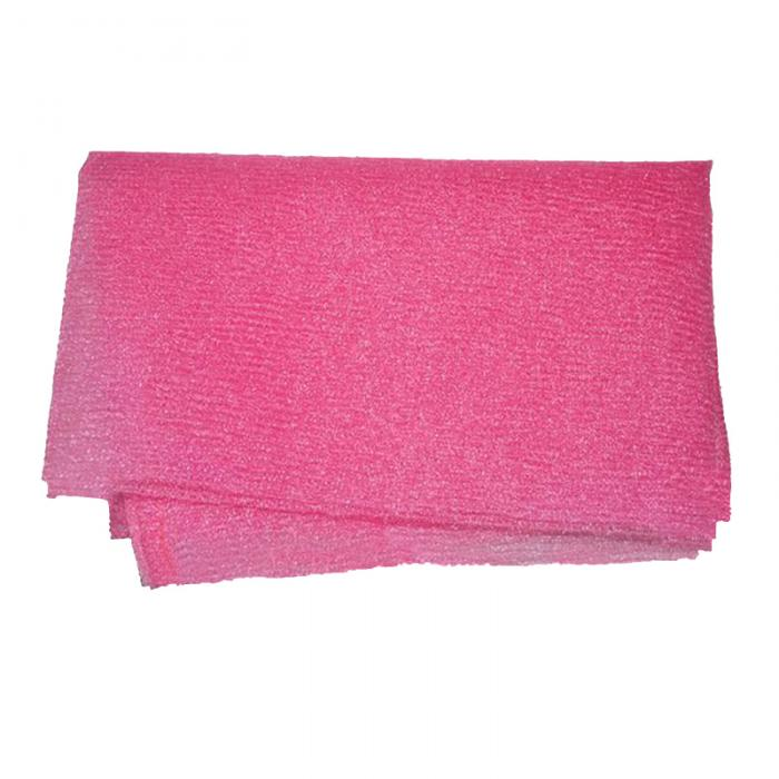 Trend Pink Nylon Wash Cloth Body Scrub Bath Towel Beauty Body Skin Exfoliating Shower Bathroom Washing Bath Accessories