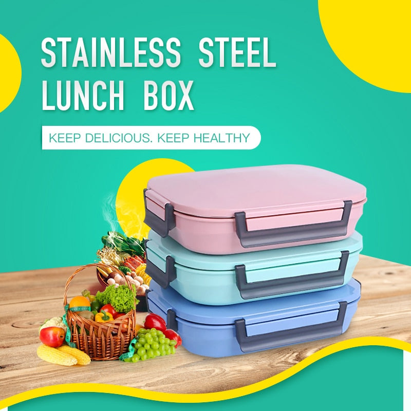 Trend 304 Stainless Steel Japanese Bento Lunch Box Bag Set Leakproof Japan Bento Box Food Container Thermal Lunchbox