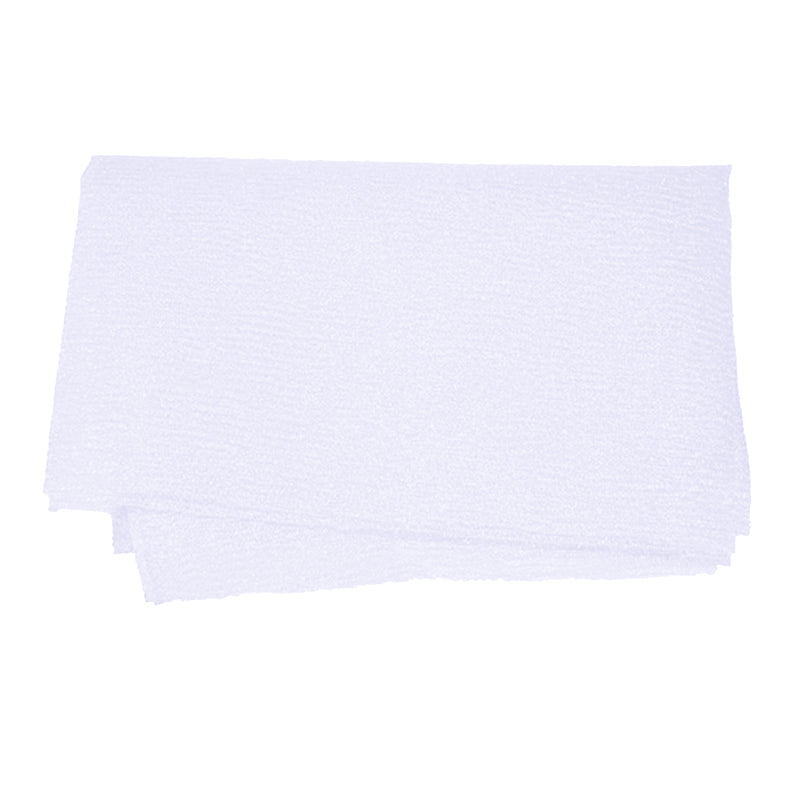 White Nylon Wash Cloth Body Scrub Bath Towel Beauty Body Skin Exfoliating Shower Bathroom Washing Bath Accessories