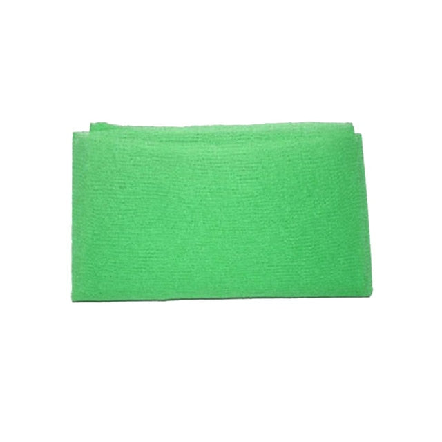 Green Nylon Wash Cloth Body Scrub Bath Towel Beauty Body Skin Exfoliating Shower Bathroom Washing Bath Accessories