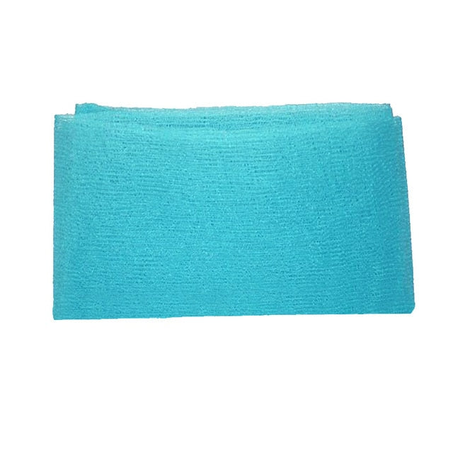 Blue Nylon Wash Cloth Body Scrub Bath Towel Beauty Body Skin Exfoliating Shower Bathroom Washing Bath Accessories