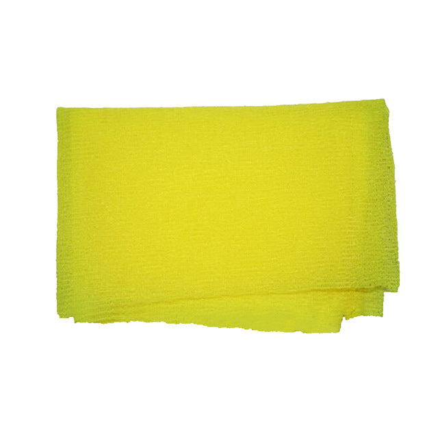 Yellow Nylon Wash Cloth Body Scrub Bath Towel Beauty Body Skin Exfoliating Shower Bathroom Washing Bath Accessories