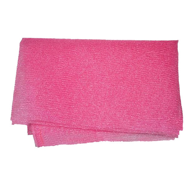 Trending Pink Nylon Wash Cloth Body Scrub Bath Towel Beauty Body Skin Exfoliating Shower Bathroom Washing Bath Accessories