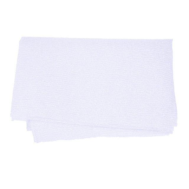 Trend White Nylon Wash Cloth Body Scrub Bath Towel Beauty Body Skin Exfoliating Shower Bathroom Washing Bath Accessories