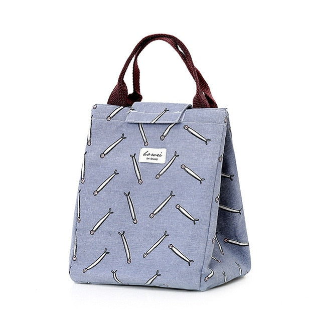 Japanese Lattice Print Lunch Bags