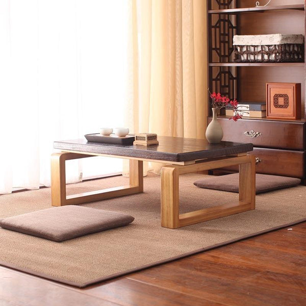 Trend Japanese Wooden Low Coffee Table