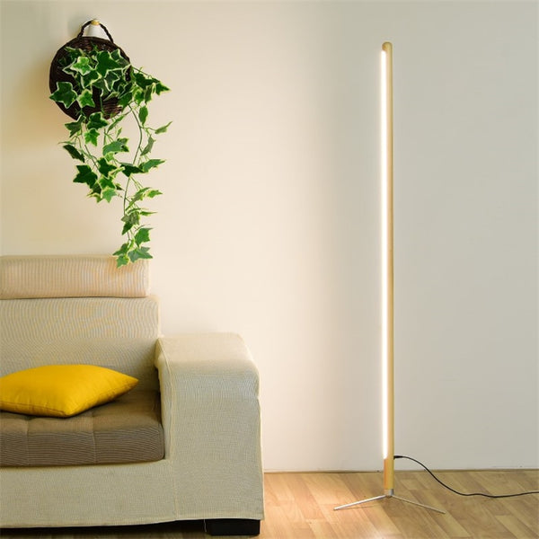 Japanese Minimalist Modern Floor Lamp Creative Site Lamp Personality LED Stand Light Bedroom Living Room Japan Home Decor Wooden Table Floor Lights Nordic Style