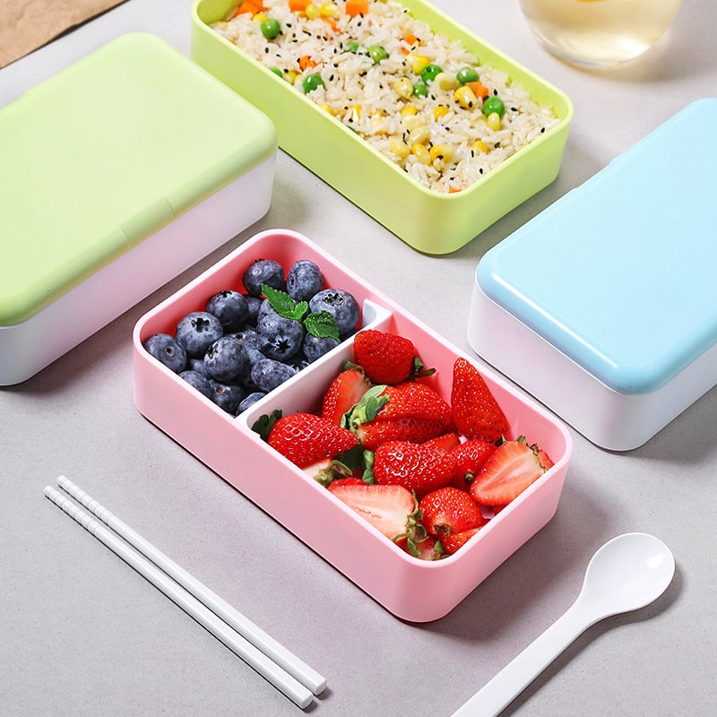 Trending 1200ML Japanese Bento Lunch box Microwavable Food container Double layer Portable Japan Bento box  with compartments Leakproof BPA free