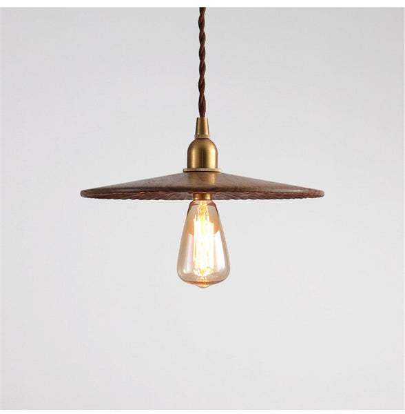 Japanese Brass Wood Pendant Lamp Edison Industrial Vintage Classic Hanging Lights Pendant Lighting Japan Home Decor Lighting Loft Light Accessories