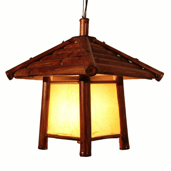 Natural Japanese Southeast Asia Bamboo House Pendant Lights Stair Case Haning Lights Dining Room Corridor Hallway Ceiling Pendant Lamps Japan Home Decor Lighting Accessories