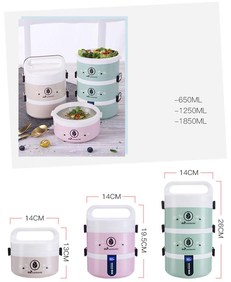 Leakproof Microwave Lunchbox Plastic Kids Food Storage Containers Stainless Steel Japanese Bento Lunch Box Set Thermos Thermal Insulated Japan Size Chart