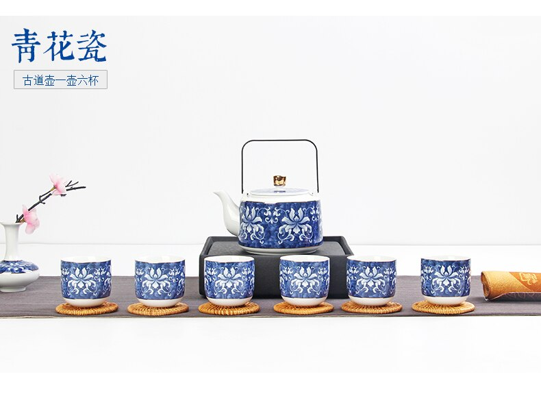 Japanese Jade Porcelain Tea Set