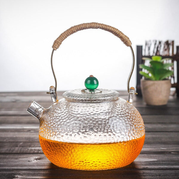 600ml Japanese Heat-resistant Glass Hand-hammer Harp Teapot Kettle Stove Brewing Tea Water Kettle Kung Fu Teapot Japan Drinkware