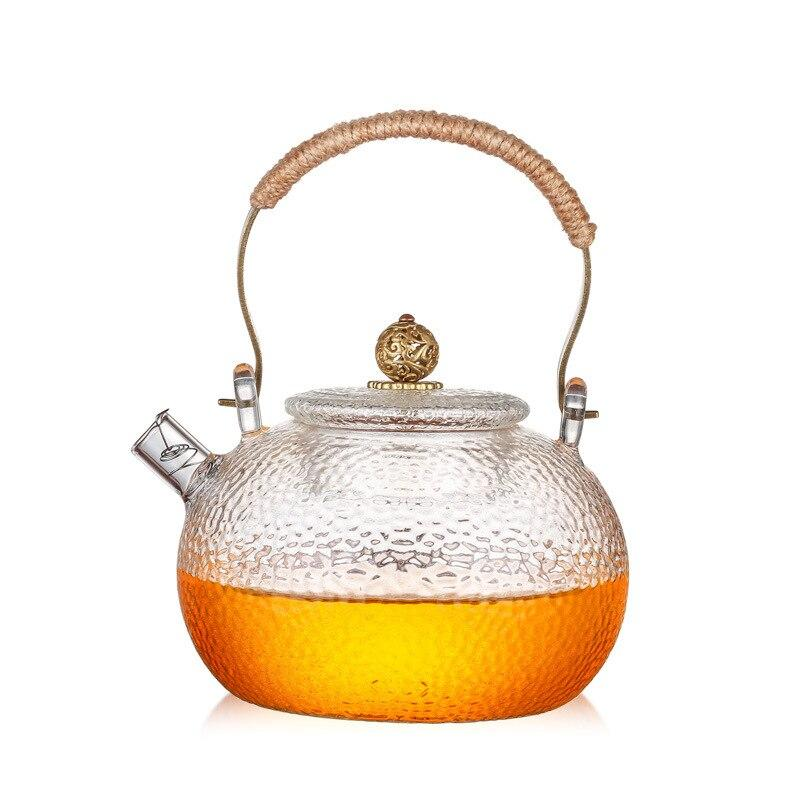 Trend 600ml Japanese Heat-resistant Glass Hand-hammer Harp Teapot Kettle Stove Brewing Tea Water Kettle Kung Fu Teapot Japan Drinkware Style