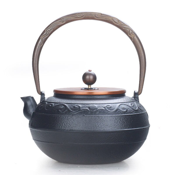 1.3L Japanese Cast Iron Teapot Kettle Rattan copper cap bottle handmade teapot boiling water kettle Chinese puer tea pot Japan drinkware