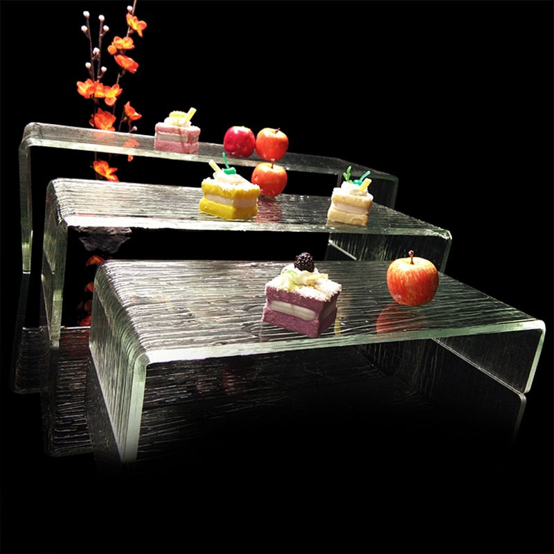 Buffet Transparent Cake Showing Shelf Acrylic Sushi Stand Restaurant Dinnerware Set Sashimi Tray Food Plate 3 Different Size