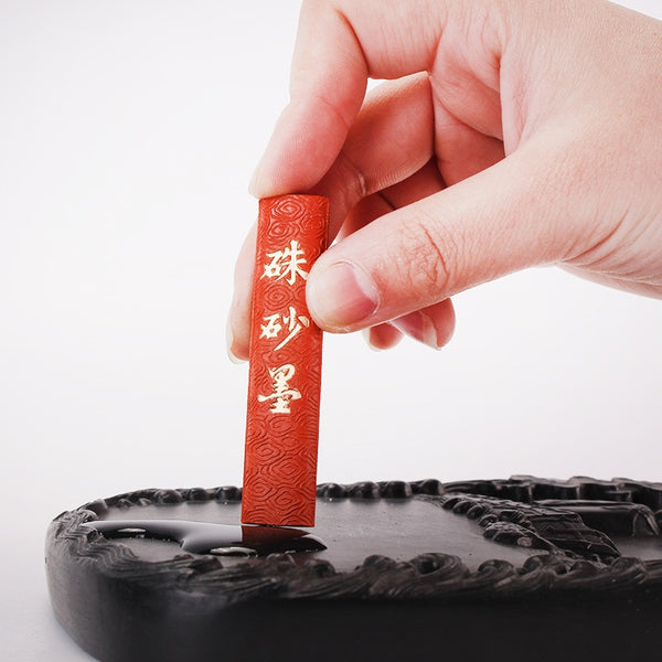 1 Piece 50g Red Color Chinese Japanese Calligraphy Sumi-E Ink Painting Ink Stick for Calligraphy Brushes Office School Supplies