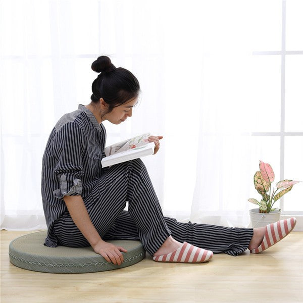 2 Piece Japanese Tatami Floor Cushion Set
