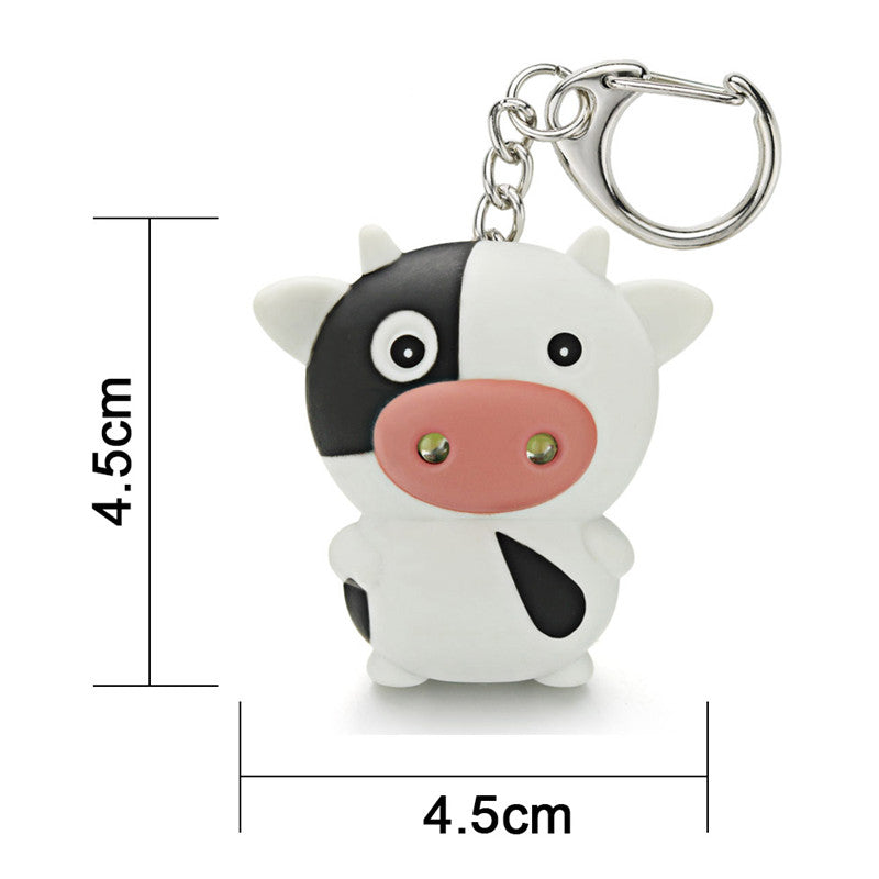 LED Cow Keychain with Sound