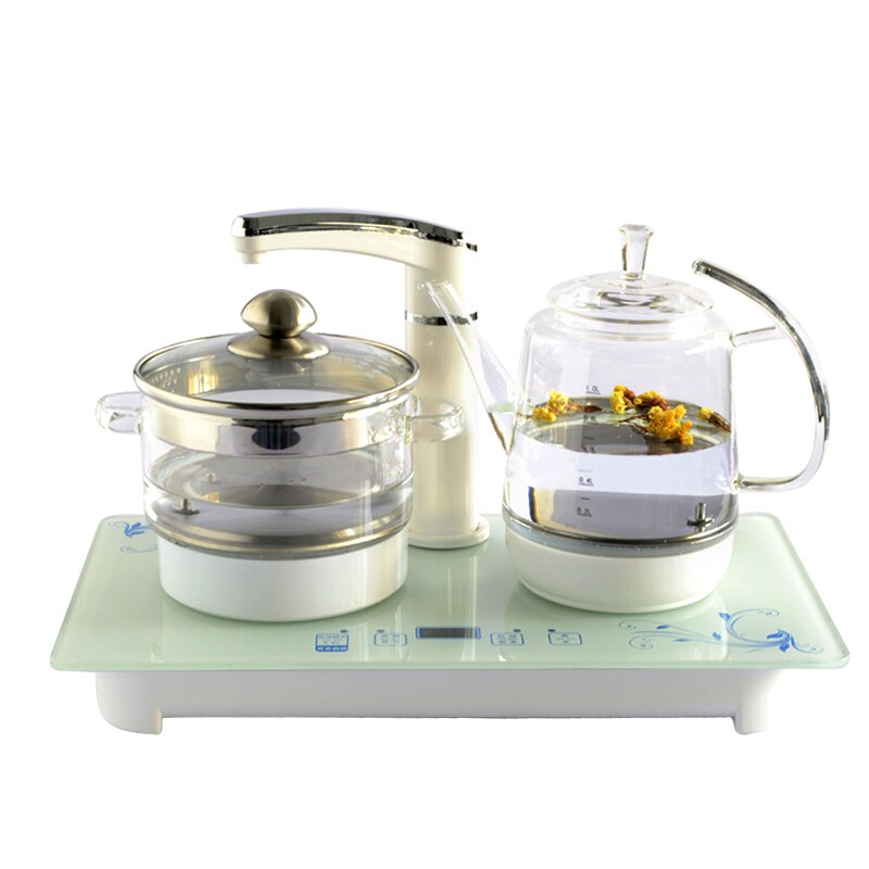 Electric Faucet Kettle Tea Set Smart glass raising pot flower teapot automatic upper water sets Kitchen Appliance