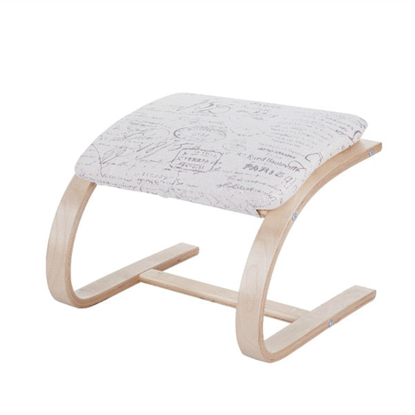 Contemporary Wooden Footstool