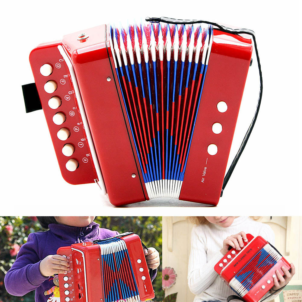 Mini Small Accordion 17-Key 8 Bass Educational Musical Instrument Rhythm Band Toy for Kids Children Gift Mini Small Accordion 17-Key 8 Bass Educational Musical Instrument Rhythm Band Toy for Kids Children Gift Trending