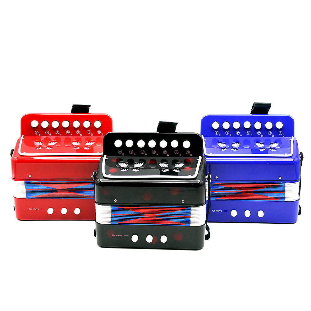 Mini Small Accordion 17-Key 8 Bass Educational Musical Instrument Rhythm Band Toy for Kids Children Gift Trend