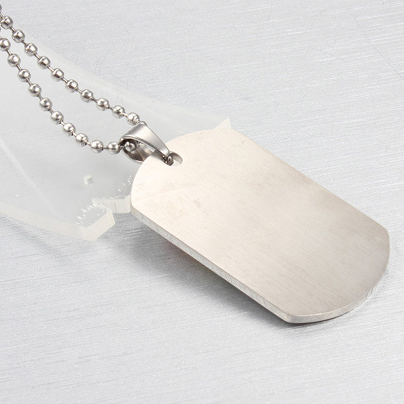 Stainless Steel Rainbow Dog Tag Jewelry Pendants & Necklaces for Gay Lesbian LGBT Pride Long Chain Necklaces Jewellery Back View