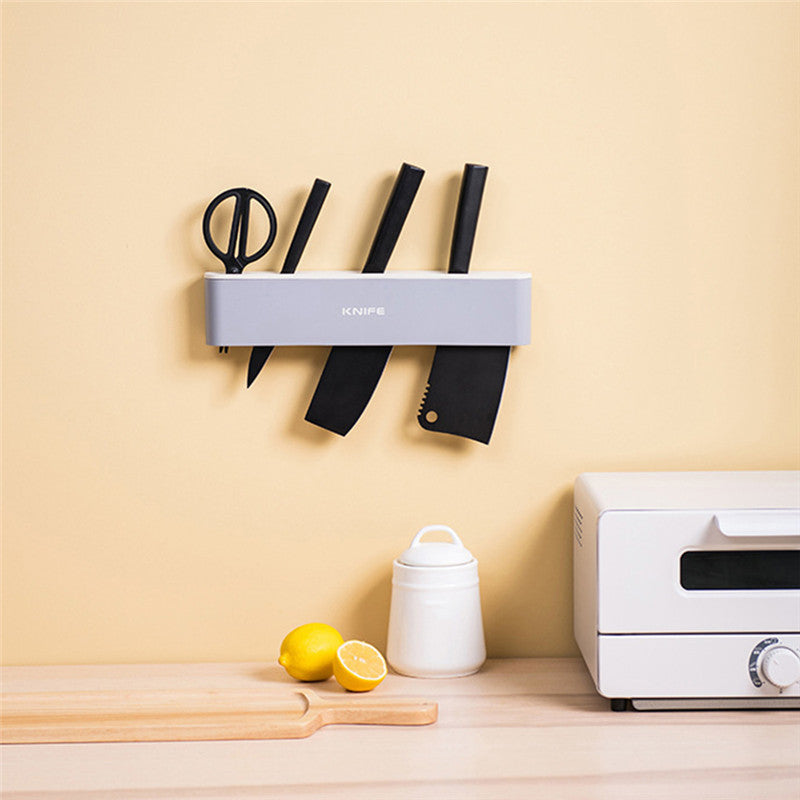 Punch Free Kitchen Knife Holder Stand Rack Wall-Mounted knives Holder Storage Shelf Trending