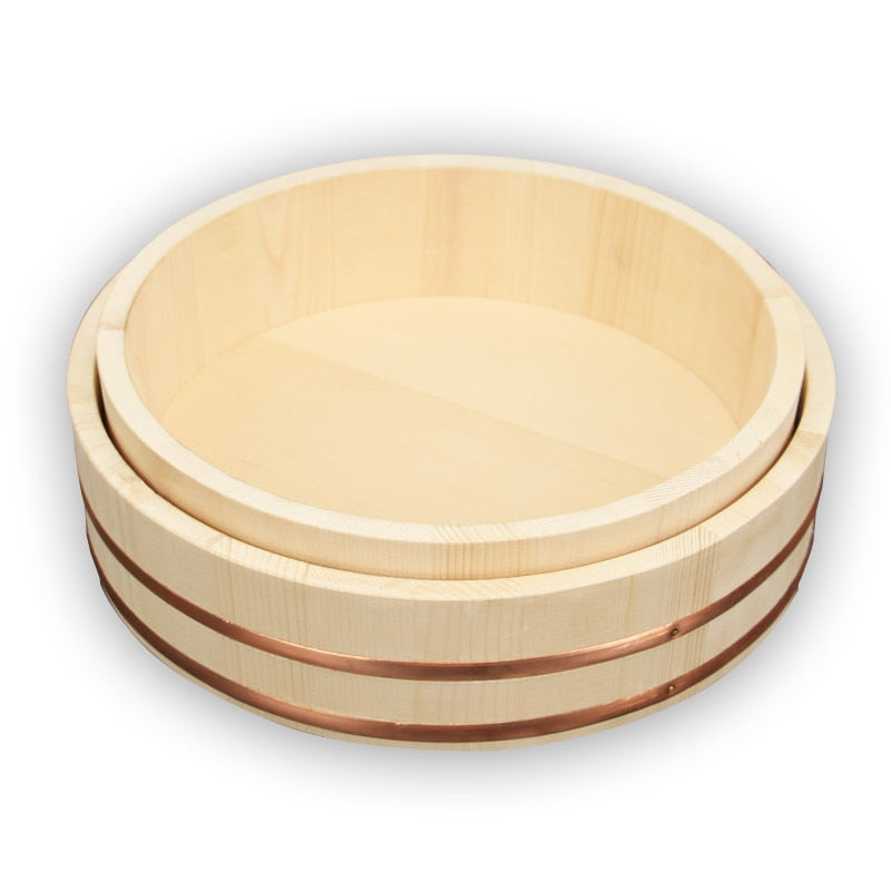 Japanese Wooden Mixing Serving Bowl