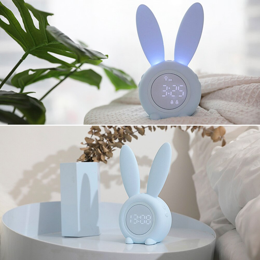 Cute Rabbit Digital Alarm Clock
